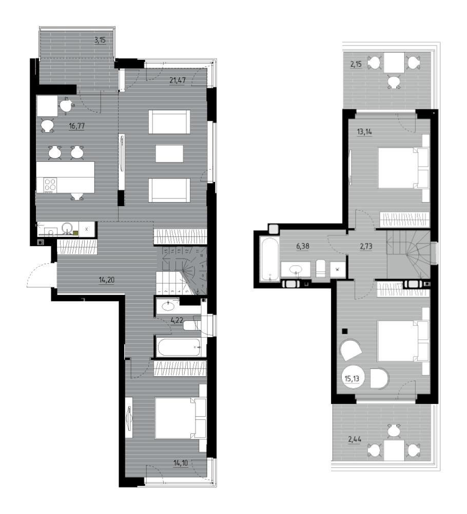 Дворівнева квартира